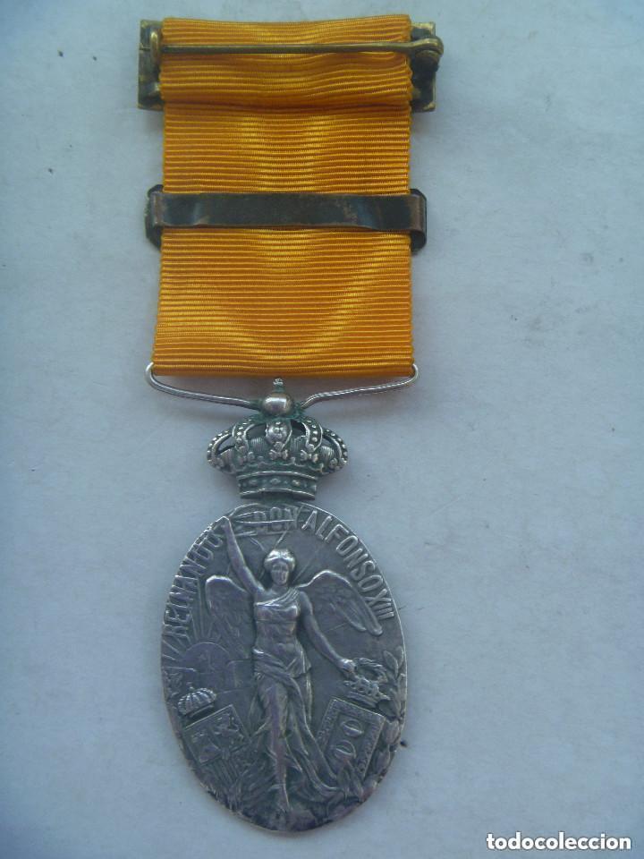 Militaria: GUERRA DE AFRICA : MEDALLA DE LA CAMPAÑA DEL RIF PARA OFICIALES ( DE PLATA ), PASADOR MELILLA. - Foto 2 - 131402918