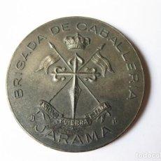 Militaria: MEDALLA DE PLATA O PLATEADA DE LA BRIGADA DE CABALLERÍA JARAMA - SANTIAGO Y CIERRA ESPAÑA. Lote 132289386