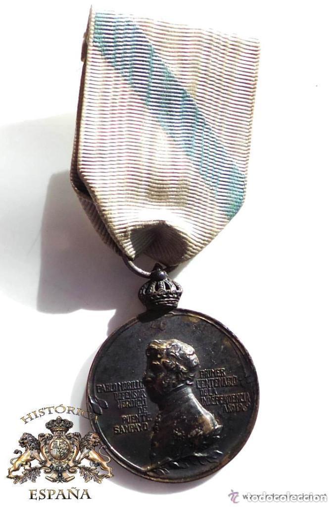 MEDALLA DEL CENTENARIO DE LA DEFENSA DEL PUENTE SAMPAYO,CATEGORIA PLATA (Militar - Medallas Españolas Originales )