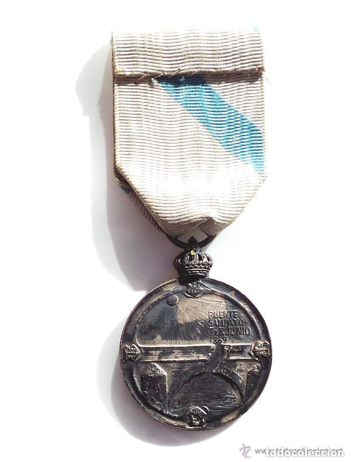 Militaria: MEDALLA DEL CENTENARIO DE LA DEFENSA DEL PUENTE SAMPAYO,CATEGORIA PLATA - Foto 2 - 132455182