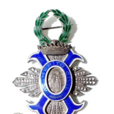 Militaria: MEDALLA AL MÉRITO CIVIL, ÉPOCA DE FRANCO, VARIANTE PARA BANDA, PLATA. Lote 132480510