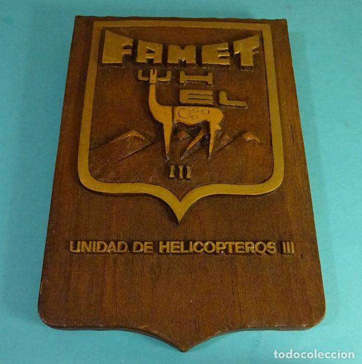 METOPA FAMET U.HEL III UNIDAD HELICÓPTEROS III. FORMATO 22 X 33 CM (Militar - Reproducciones y Réplicas de Medallas )