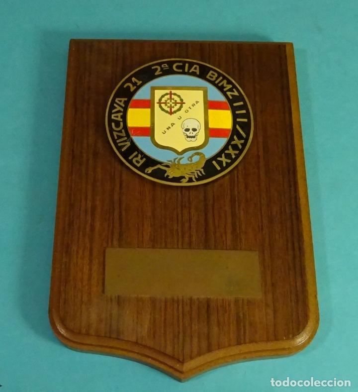METOPA 2ª CIA BIMZ III RI VIZCAYA 21 / XXXI. FORMATO 14 X 21 CM (Militar - Reproducciones y Réplicas de Medallas )