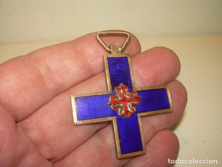 ANTIGUA MEDALLA ESMALTADA. (Militar - Medallas Españolas Originales )