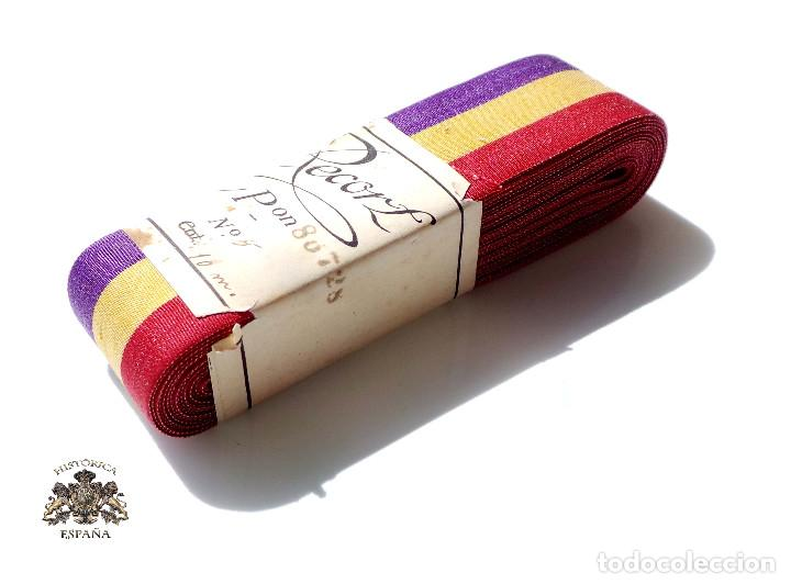 ROLLO 10 METROS DE CINTA PARA MEDALLA REPÚBLICA.- 2,8 CM DE ANCHA (Militar - Cintas de Medallas y Pasadores)