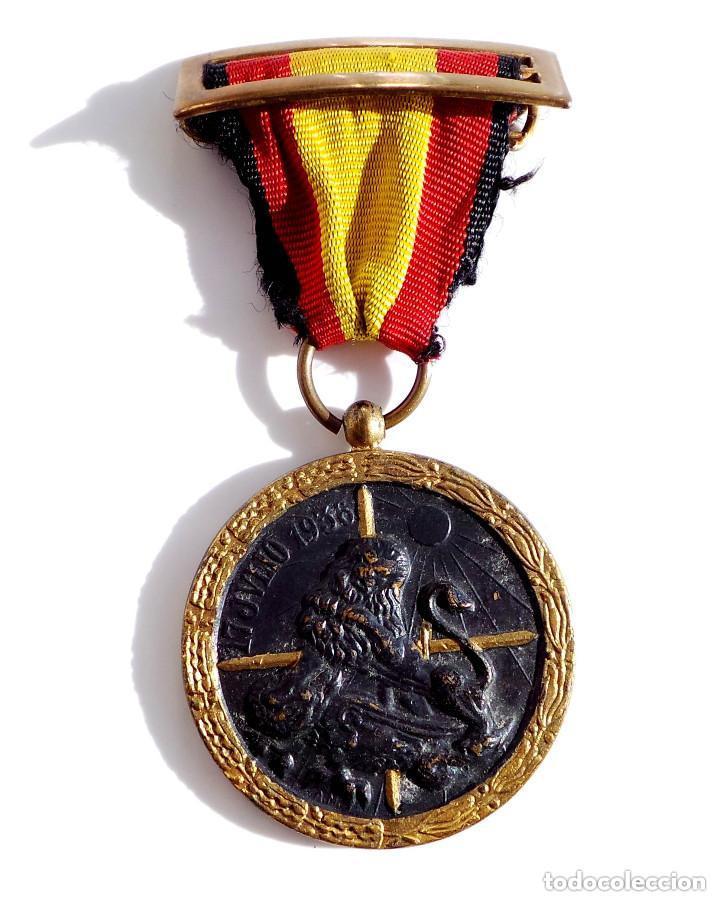Militaria: MEDALLA DE LA CAMPAÑA GUERRA CIVIL - 17 JULIO 1936 - INDUSTRIAS EGAÑA - Foto 2 - 132684082