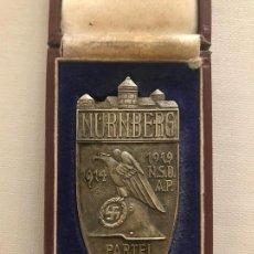 Militaria: PLACA DE PLATA CONMEMORATIVA DEL REICHSPARTEITAG NSDAP 1929, TERCER REICH, HITLER, NAZI. Lote 133047830