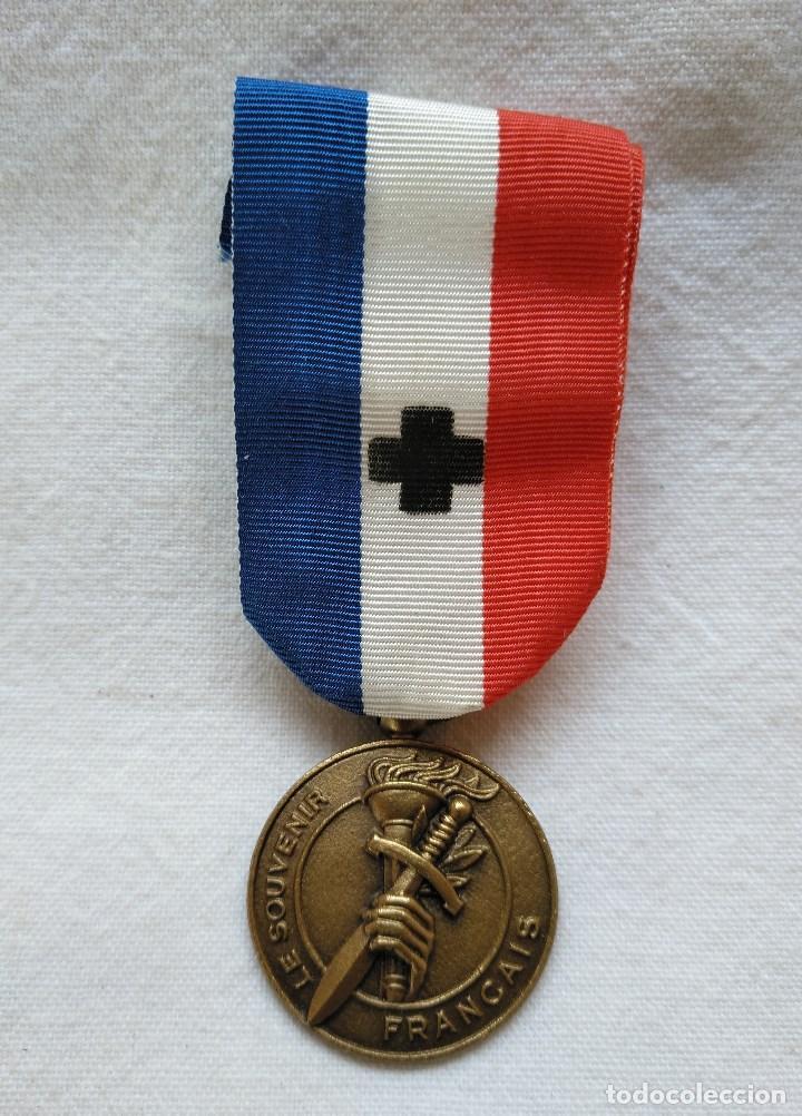 MEDALLA FRANCESA DE RECUERDO MILITAR. (Militar - Medallas Extranjeras Originales)
