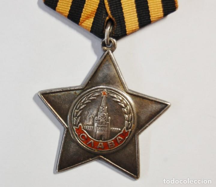 Militaria: MEDALLA DE PLATA MACIZA RUSA ORDEN DE LA GLORIA DE 3ª CLASE.SEGUNDA GUERRA MUNDIAL. - Foto 2 - 133442166