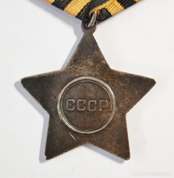 Militaria: MEDALLA DE PLATA MACIZA RUSA ORDEN DE LA GLORIA DE 3ª CLASE.SEGUNDA GUERRA MUNDIAL. - Foto 5 - 133442166