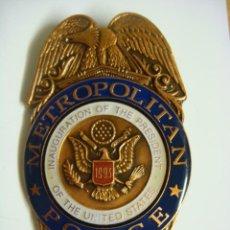 Militaria: PLACA DE METROPOLITAN POLICE DC. Lote 133486886