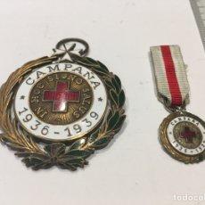 Militaria: MEDALLA Y MINIATURA DE CRUZ ROJA DE LA CAMPAÑA 1936/1939. Lote 133635242