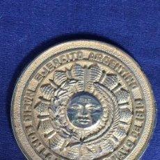 Militaria: PLACA BRONCE MEDALLON MILITAR EJERCITO ARGENTINO NACIO CON PATRIA EN MAYO DE 1810 8CMS. Lote 133707866