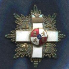 Militaria: PLACA DE LA ORDEN AL MÉRITO MILITAR. DISTINTIVO BLANCO. ÉPOCA DE FRANCO.. Lote 133739970