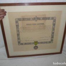 Militaria: ANTIGUA MEDALLA ORDEN AL MERITO AGRICOLA DE FRANCO + CONCESION, PRECIOSA. . Lote 133760682