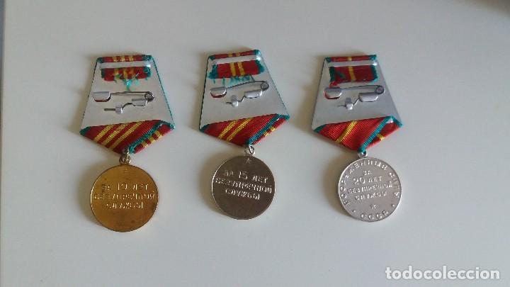 Militaria: LOTE DE 3 MEDALLA S SOVIÉTICA S SERVICIO IRREPROCHABLE 10, 15, 20 AÑOS. URSS. RUSIA - Foto 3 - 133818482