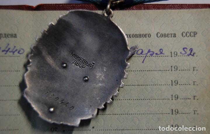 Militaria: MEDALLA RUSA DE PLATA MACIZA Y ESMALTES.ORDEN DE LA LABOR.RED BANNER.DOCUMENTO DE CONCESION ORIGINAL - Foto 9 - 208958000