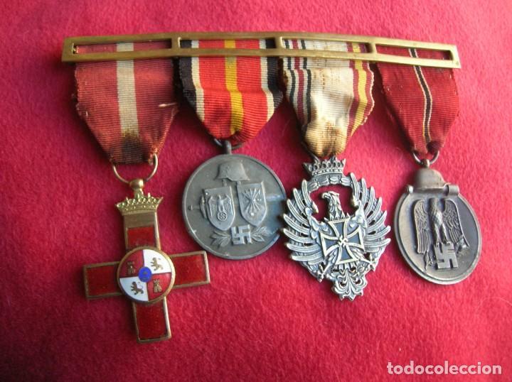 Militaria: BELLO PASADOR DE MEDALLAS DE UN DIVISIONARIO. DIVISION AZUL. RUSIA 1941-1943. - Foto 3 - 134750902