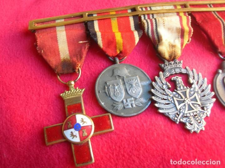 Militaria: BELLO PASADOR DE MEDALLAS DE UN DIVISIONARIO. DIVISION AZUL. RUSIA 1941-1943. - Foto 4 - 134750902