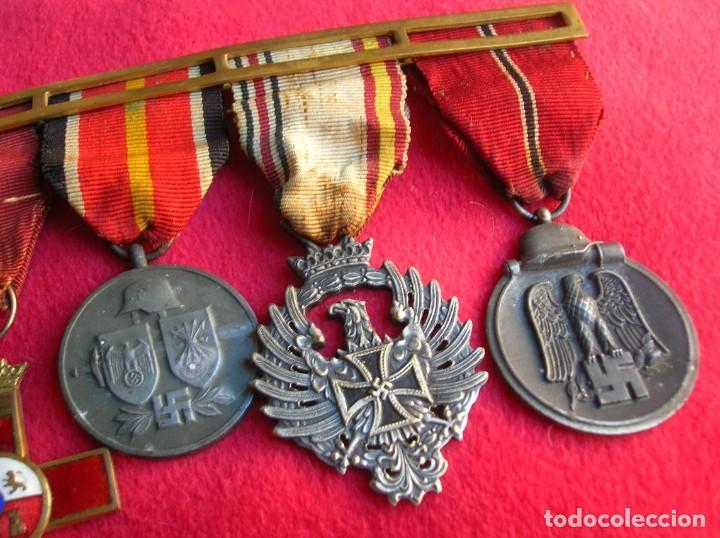 Militaria: BELLO PASADOR DE MEDALLAS DE UN DIVISIONARIO. DIVISION AZUL. RUSIA 1941-1943. - Foto 5 - 134750902