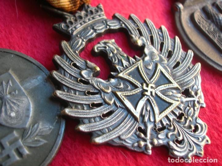Militaria: BELLO PASADOR DE MEDALLAS DE UN DIVISIONARIO. DIVISION AZUL. RUSIA 1941-1943. - Foto 7 - 134750902