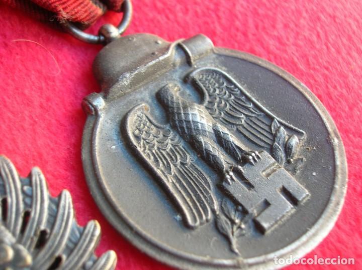 Militaria: BELLO PASADOR DE MEDALLAS DE UN DIVISIONARIO. DIVISION AZUL. RUSIA 1941-1943. - Foto 13 - 134750902