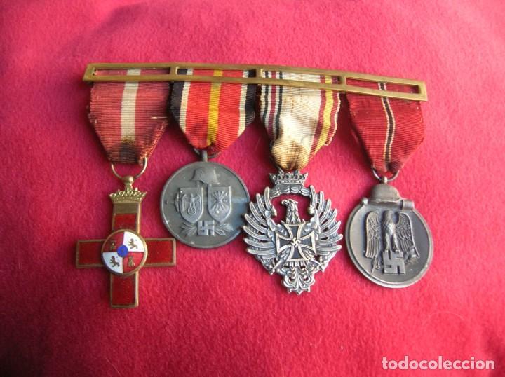 Militaria: BELLO PASADOR DE MEDALLAS DE UN DIVISIONARIO. DIVISION AZUL. RUSIA 1941-1943. - Foto 15 - 134750902