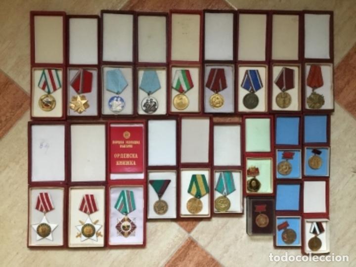 MAGNÍFICA COLECCIÓN 21 MEDALLAS MILITARES COMUNISTAS ORIGINALES URSS - EN ESTUCHES ORIGINALES (Militar - Medallas Internacionales Originales)