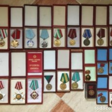 Militaria: MAGNÍFICA COLECCIÓN 21 MEDALLAS MILITARES COMUNISTAS ORIGINALES URSS - EN ESTUCHES ORIGINALES. Lote 134984698
