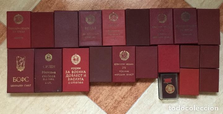 Militaria: Magnífica colección 21 medallas militares comunistas originales URSS - EN ESTUCHES ORIGINALES - Foto 2 - 134984698