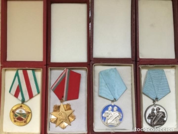 Militaria: Magnífica colección 21 medallas militares comunistas originales URSS - EN ESTUCHES ORIGINALES - Foto 3 - 134984698