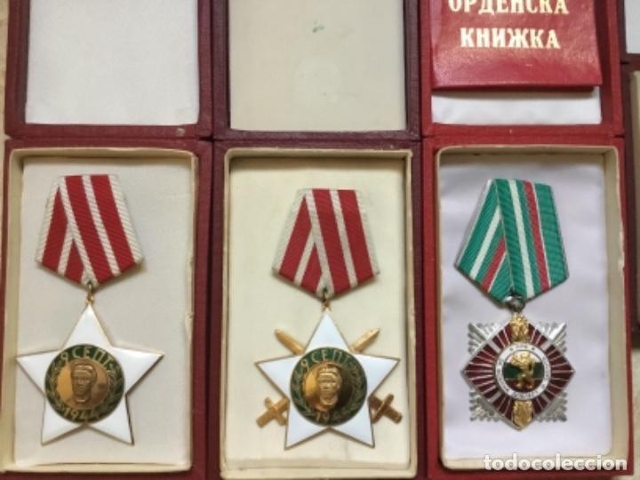 Militaria: Magnífica colección 21 medallas militares comunistas originales URSS - EN ESTUCHES ORIGINALES - Foto 5 - 134984698