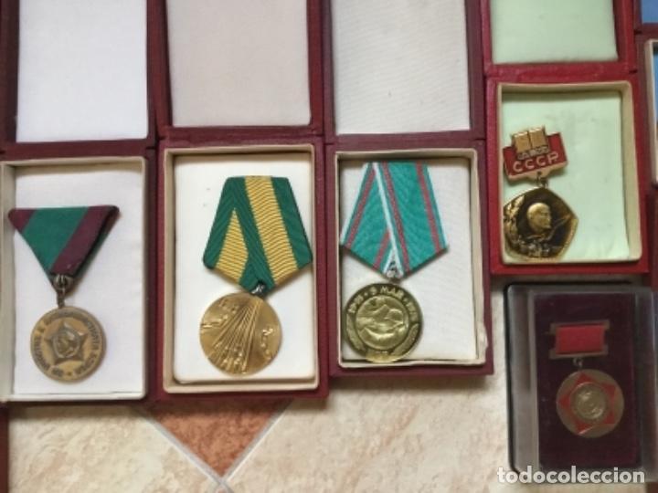 Militaria: Magnífica colección 21 medallas militares comunistas originales URSS - EN ESTUCHES ORIGINALES - Foto 6 - 134984698