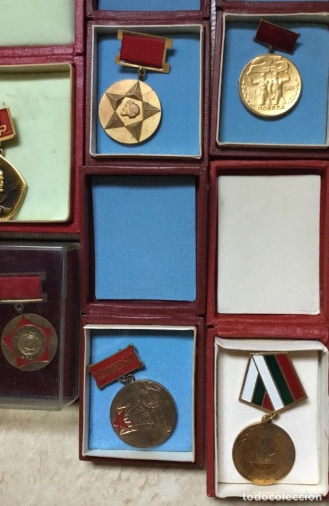 Militaria: Magnífica colección 21 medallas militares comunistas originales URSS - EN ESTUCHES ORIGINALES - Foto 7 - 134984698