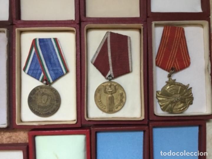 Militaria: Magnífica colección 21 medallas militares comunistas originales URSS - EN ESTUCHES ORIGINALES - Foto 8 - 134984698