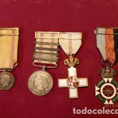 Militaria: MEDALLAS ORIGINALES GUERRAS CARLISTAS. Lote 135005310