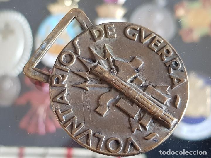 Militaria: MEDALLA ITALIANA GUERRA CIVIL GUERRA POR LA UNIDAD ESPAÑOLA VOLUNTARIOS DE GUERRA CON MARCAJE ASFER - Foto 4 - 135021274