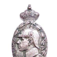 Militaria: MEDALLA DE MARRUECOS - ALFONSO XIII, PRIMER MODELO, EJEMPLAR OFICIALES, METAL PLATEADO. Lote 135665663
