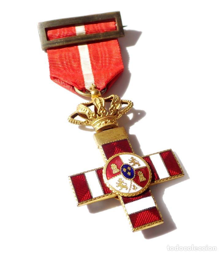 Militaria: MEDALLA MÉRITO MILITAR DISTINTIVO ROJO PENSIONADO ALFONSO XIII - Foto 2 - 135671715