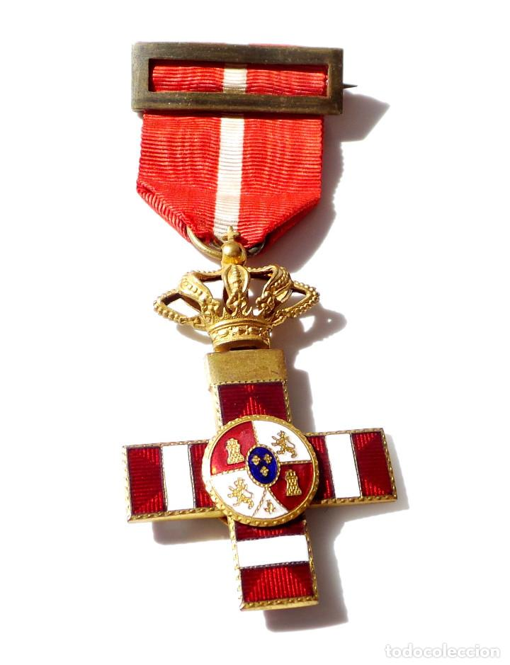 Militaria: MEDALLA MÉRITO MILITAR DISTINTIVO ROJO PENSIONADO ALFONSO XIII - Foto 3 - 135671715