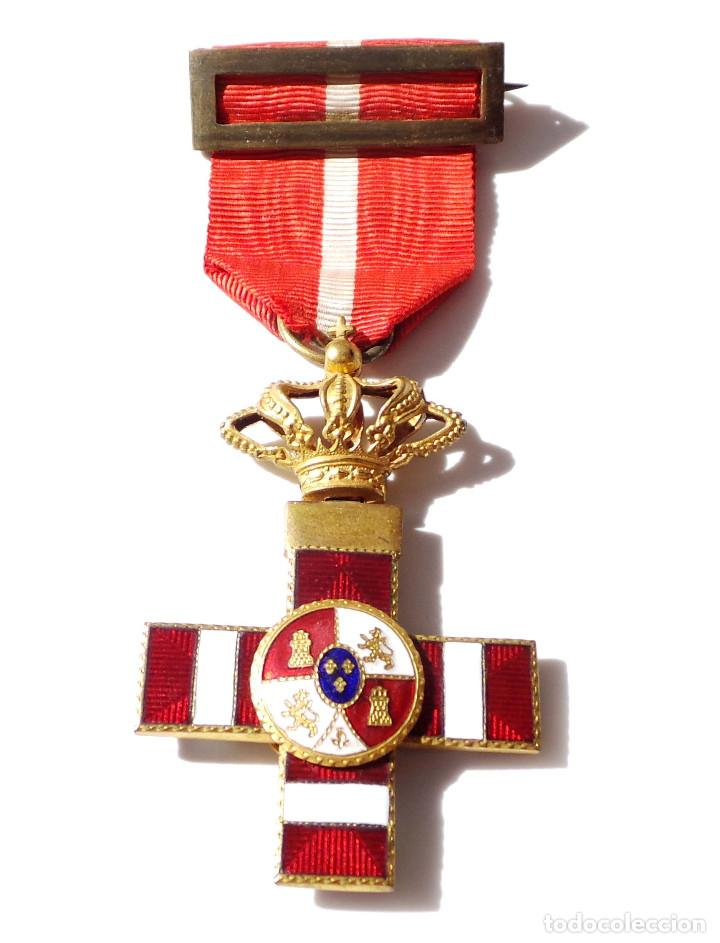Militaria: MEDALLA MÉRITO MILITAR DISTINTIVO ROJO PENSIONADO ALFONSO XIII - Foto 4 - 135671715