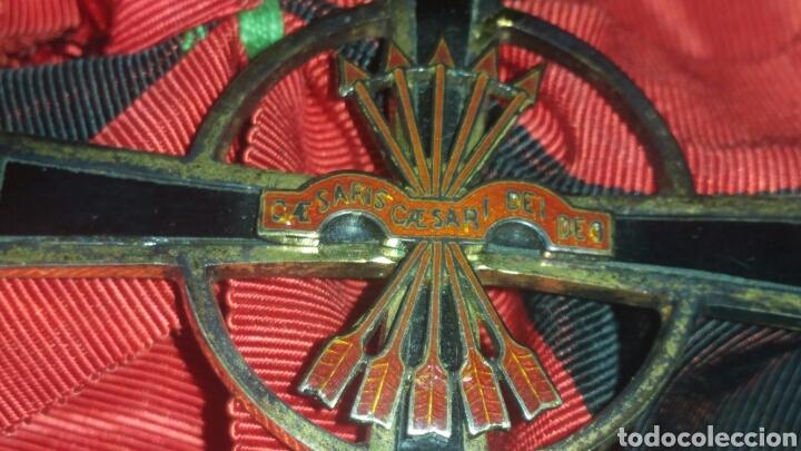 Militaria: Gran cruz y venera de la Orden Imperial del yugo y las flechas realizada en plata y onix otorgada a - Foto 4 - 135821229