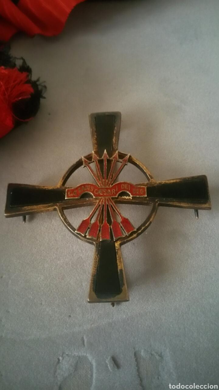 Militaria: Gran cruz y venera de la Orden Imperial del yugo y las flechas realizada en plata y onix otorgada a - Foto 7 - 135821229