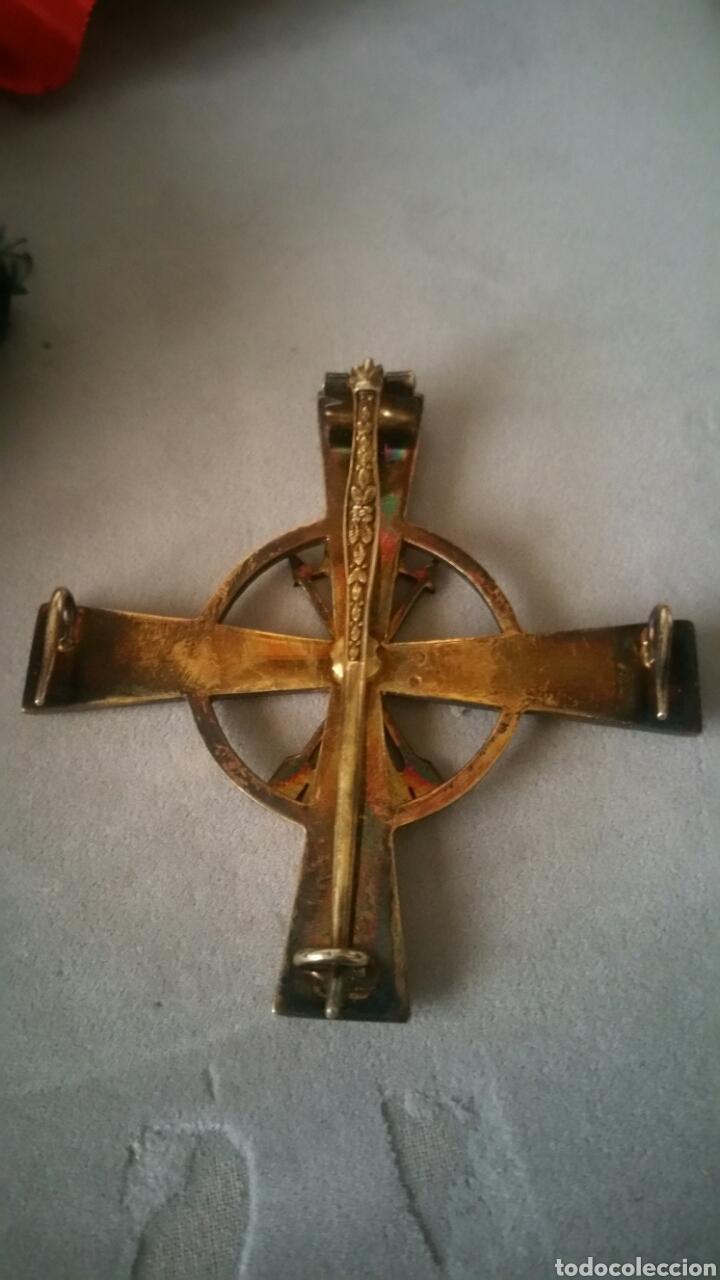 Militaria: Gran cruz y venera de la Orden Imperial del yugo y las flechas realizada en plata y onix otorgada a - Foto 8 - 135821229
