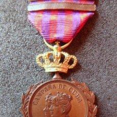 Militaria: (JX-181067)MEDALLA DE LA CAMPAÑA DE CUBA (1895-1898) AL EJÉRCITO DE OPERACIONES (G.C.776 ). Lote 135895966