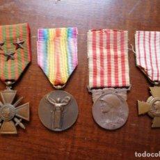 Militaria: LOTE DE 4 MEDALLAS FRANCESAS DE LA 1ª G.M.. Lote 136369546