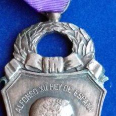 Militaria: MEDALLA DE MADRID A SUS EXCOMBATIENTES 1876 - ALFONSO XII. Lote 136401830