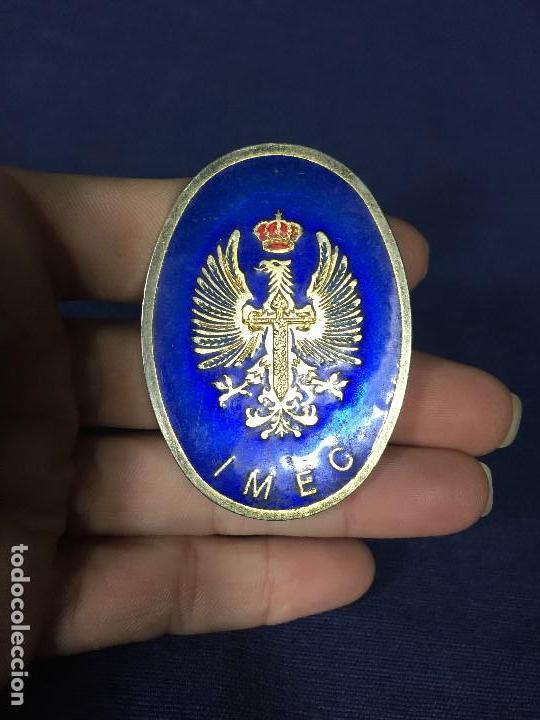 Militaria: insignia de pecho IMEC MILICIAS UNIVERSITARIAS ESMALTES CRUZ SANTIAGO NO ROJA CORONA 5,5X4CMS - Foto 3 - 136514074