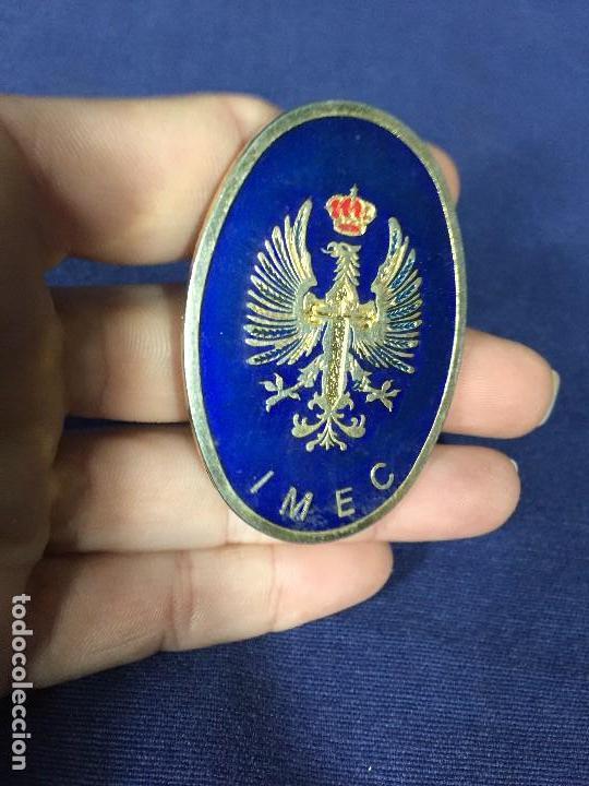 Militaria: insignia de pecho IMEC MILICIAS UNIVERSITARIAS ESMALTES CRUZ SANTIAGO NO ROJA CORONA 5,5X4CMS - Foto 4 - 136514074