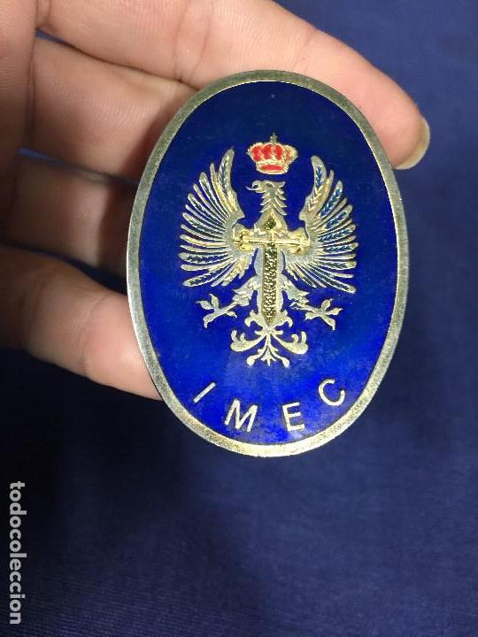 Militaria: insignia de pecho IMEC MILICIAS UNIVERSITARIAS ESMALTES CRUZ SANTIAGO NO ROJA CORONA 5,5X4CMS - Foto 2 - 136514074